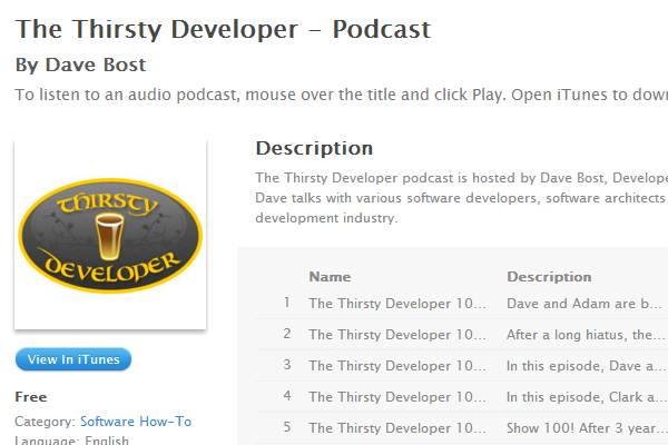 thirsty web designer developer podcast itunes