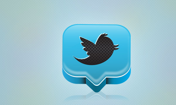 professional Twitter icon design tutorial vector