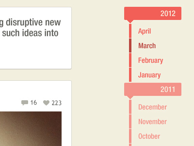 Wordpress posts website dates timeline interface
