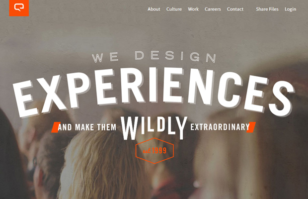 wild blue technology layout parallax