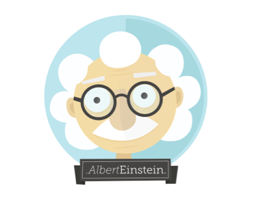 genius Albert Einstein illustration graphics