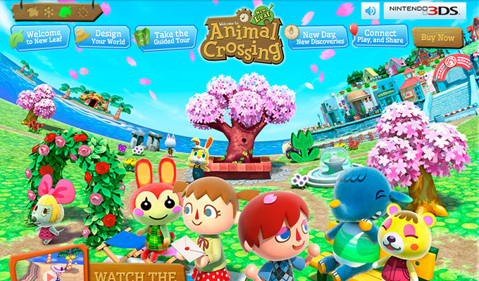 animal crossing video game website
