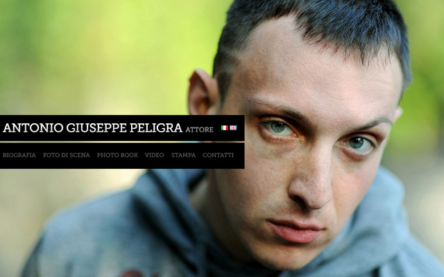antonio giuseppe peligra personal website italian fullscreen background