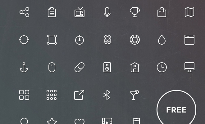 thin buddha line icons iconset freebie