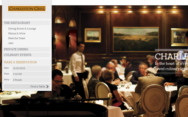 charleston grill homepage restaurant fancy fullscreen background