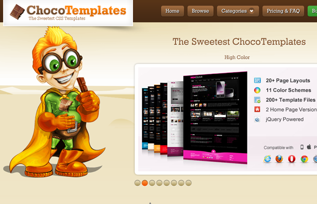 choco chocolate templates website layout