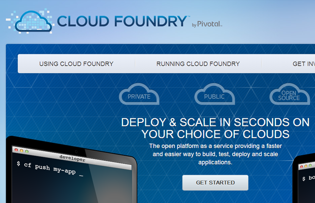 website design landing webpage inspiration cloudfoundry