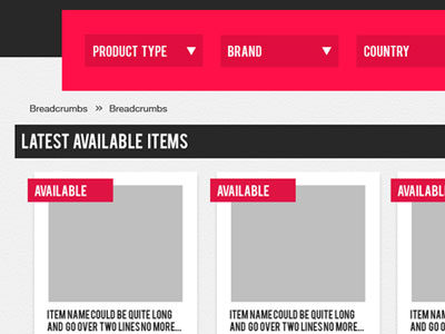 website list concepts blank template wireframe