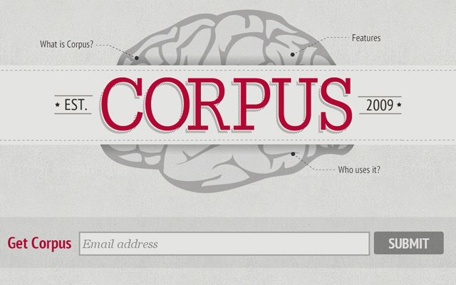 corpus grey silver bright beige colorful website agency