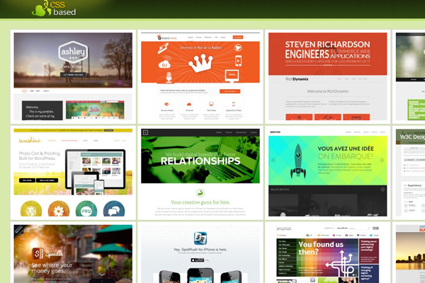 website design inspiration gallery css3