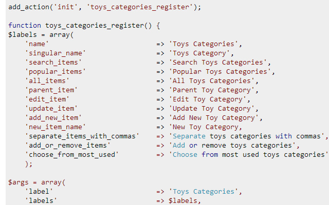 coding wordpress custom post type with taxonomy