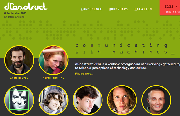 dconstruct development conference 2013 green website homepage