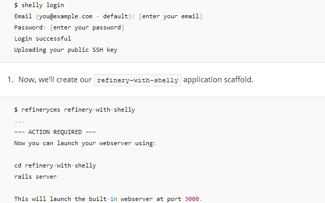 howto deploy refinery cms rails command line