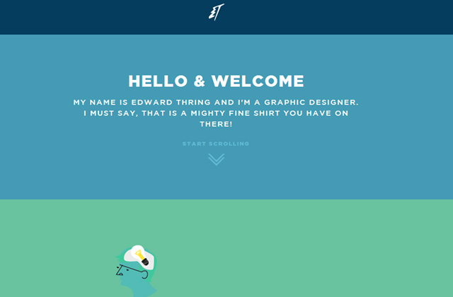 edward thring portfolio flat website layout