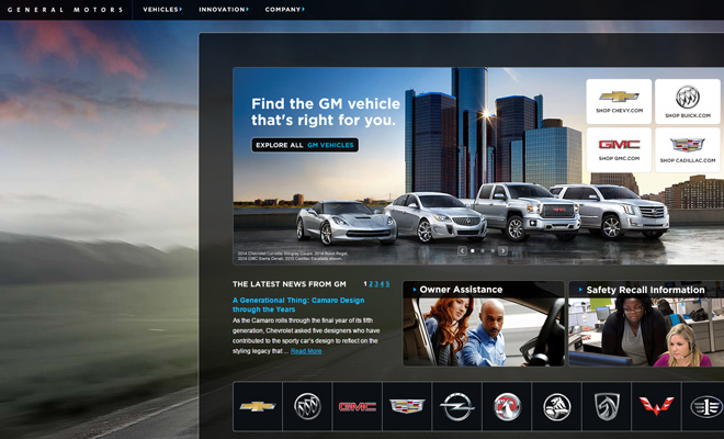 gm general motors website
