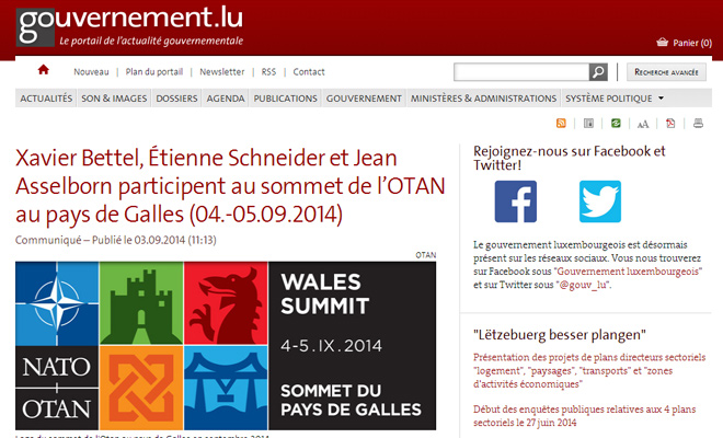government of luxembourg website