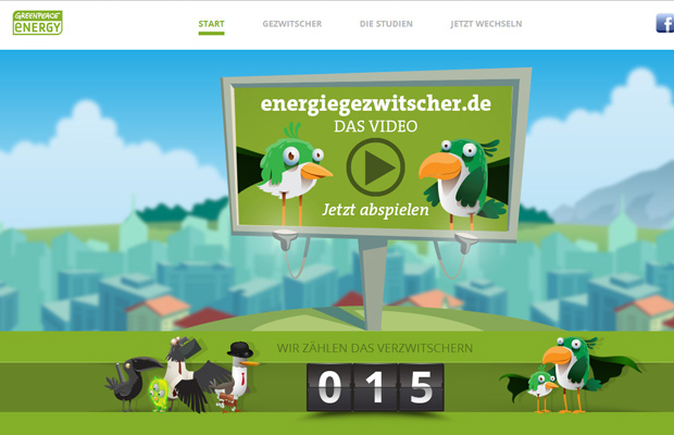 greenpeace energy website background fullscreen design