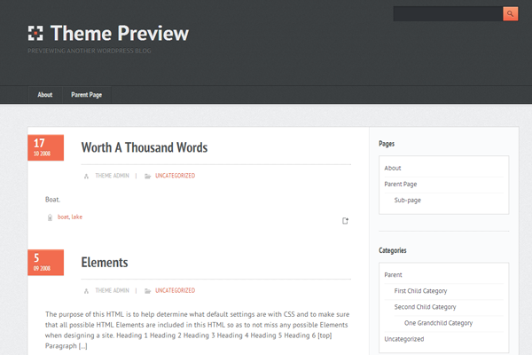 freebie theme ui design wordpress