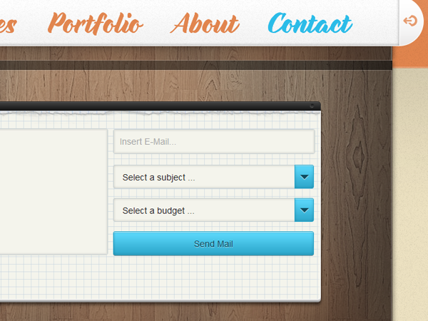 Pixel Kammer website design contact form layout
