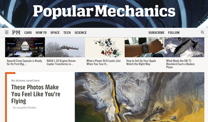 popular mechanics website magazine homepage
