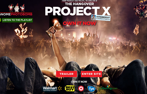 projectx movie website dark layout