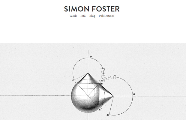 simon foster homepage portfolio simple elegant