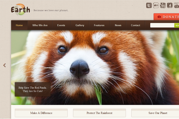 ThemeForest eco earth friendly WordPress template