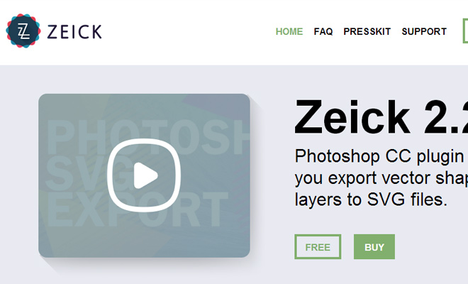 zeick photoshop svg vector export plugin