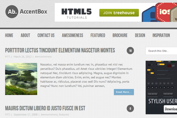 Wordpress Free Theme AccentBox MyThemeShop download