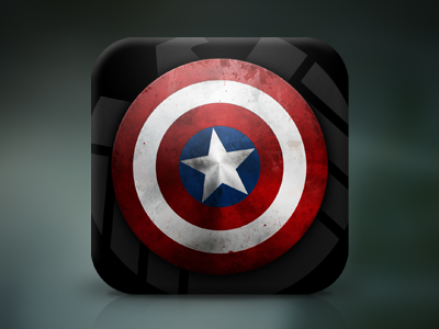 Superhero Shield iOS App Icon