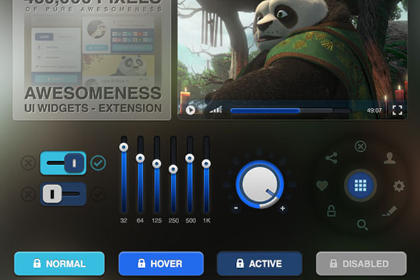 awesomeness ui design freebie psd download