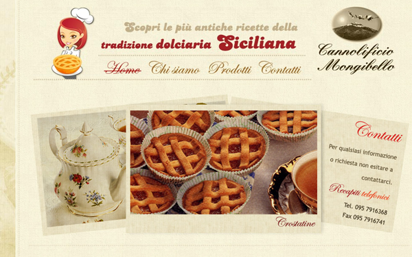 italian restaurant cooking breads pastries website