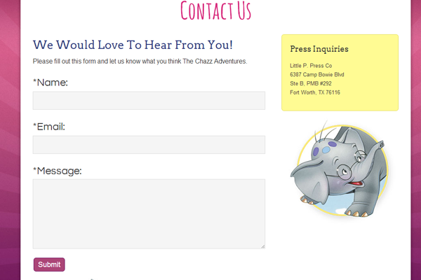 contact form inspiration webpage layout