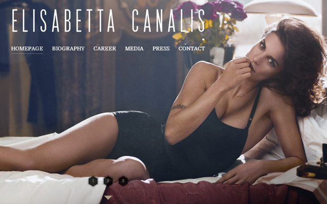 elisabetta canalis model fullscreen background website layout