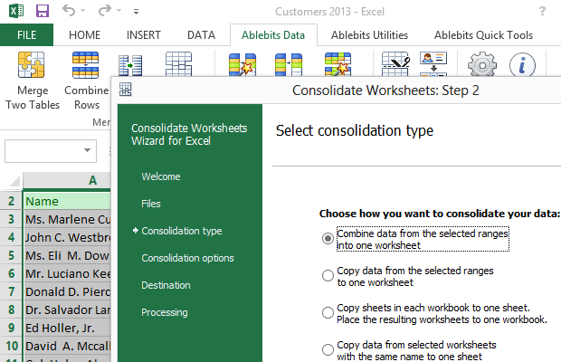 microsoft excel office addin combine worksheets