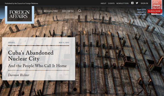 foreign affairs website layout