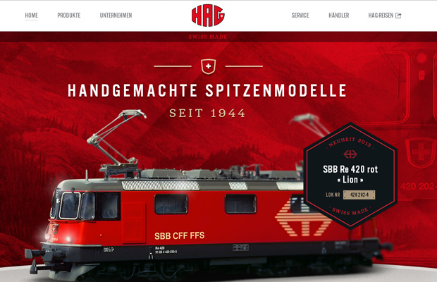 hag german trains models homepage website red