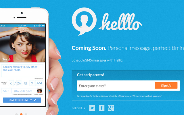 helllo new mobile iphone app design login form