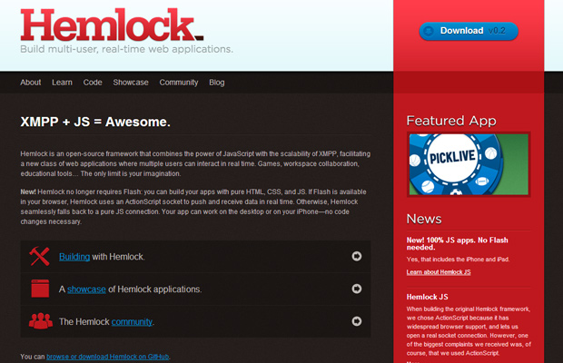 hemlock red website design homepage inspiration