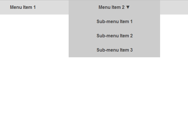 pure css drop down menu navigation