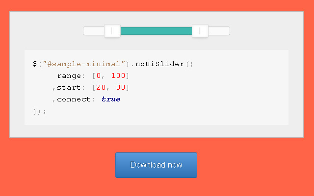 no ui slider html5 sliders form input plugin