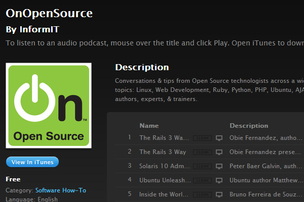 on open source podcast itunes stream