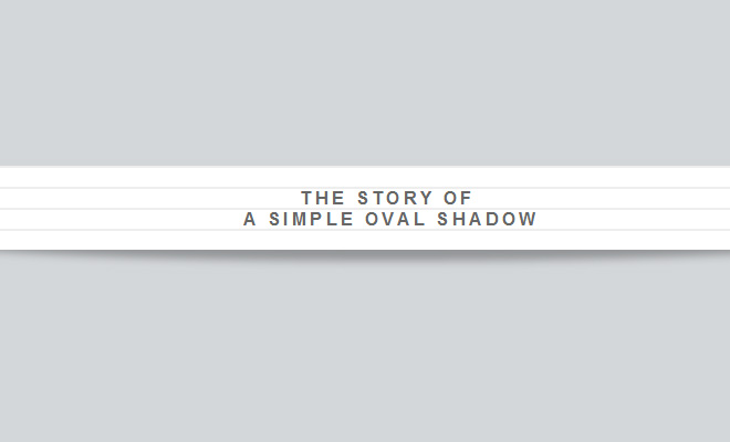 oval shadow paper effect