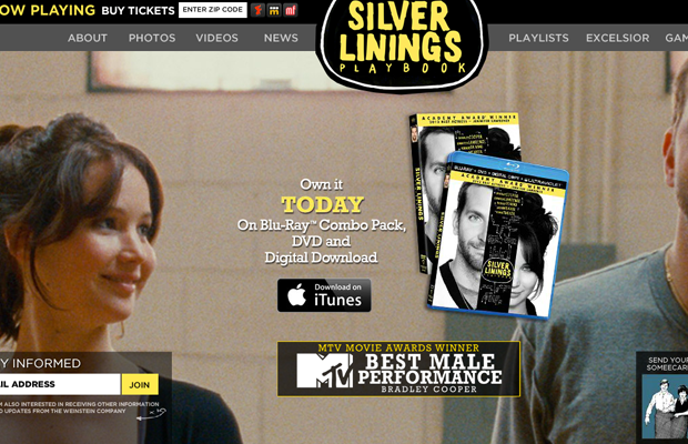 silver linings playbook movie website flash