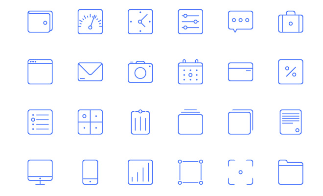 sunday freebie line icons iconset