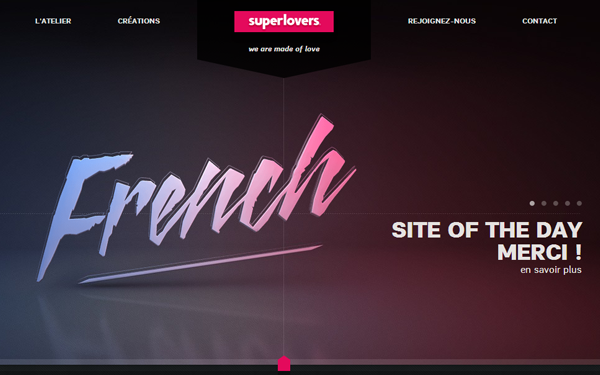 Superlovers website agency design studio