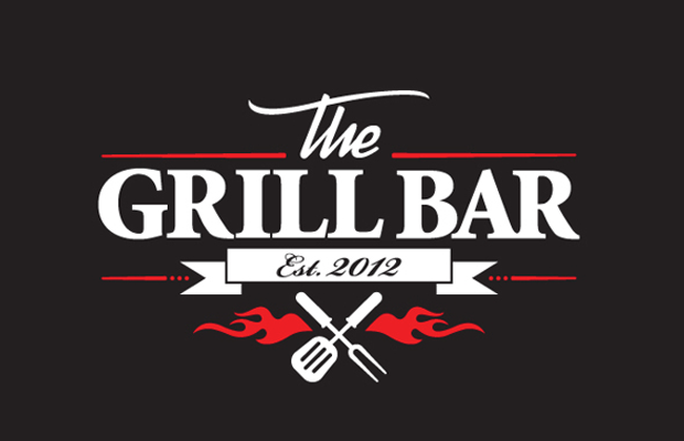 dark grill bar cooking logo identity