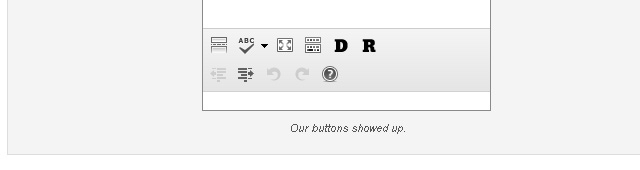 tinymce textfield editor buttons custom wordpress