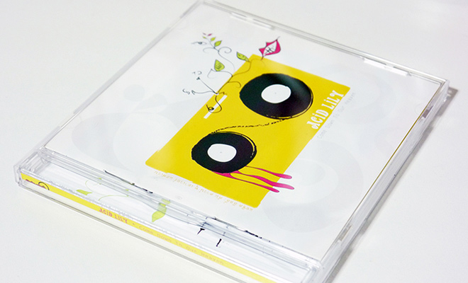 acid lily cd case cover print