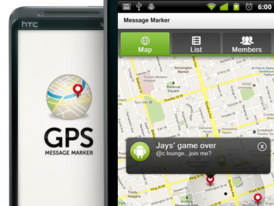 Android mobile GPS maps view marker design